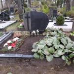 kapavietės nuotrauka prieš kapo renovaciją
