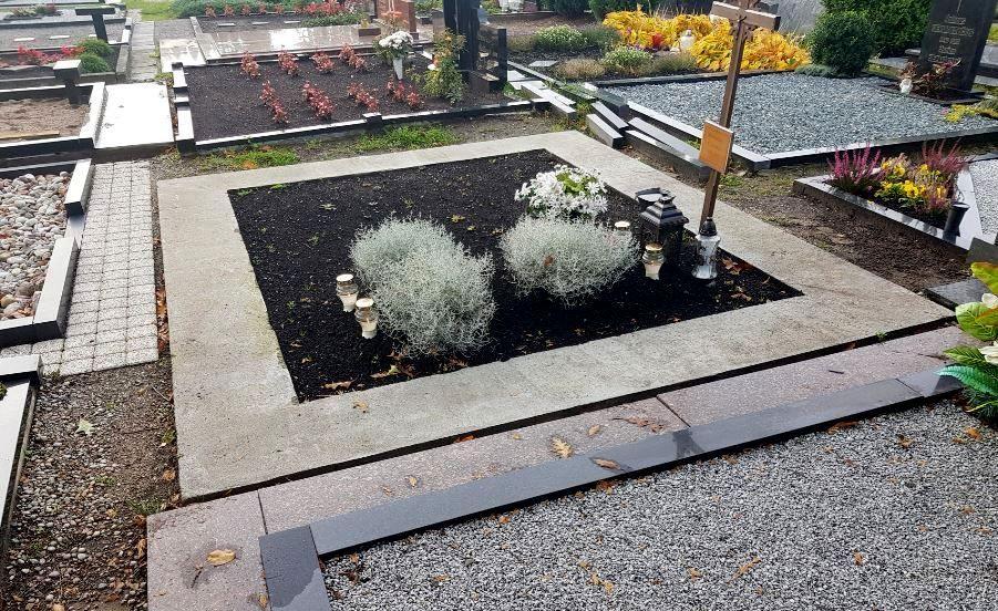 kapo nuotrauka prieš kapo įrengimo darbus