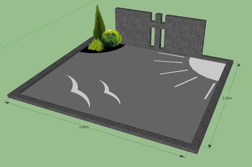 Kapavietės tvarkymo projektas prieš kapo įrengimą Vilniuje