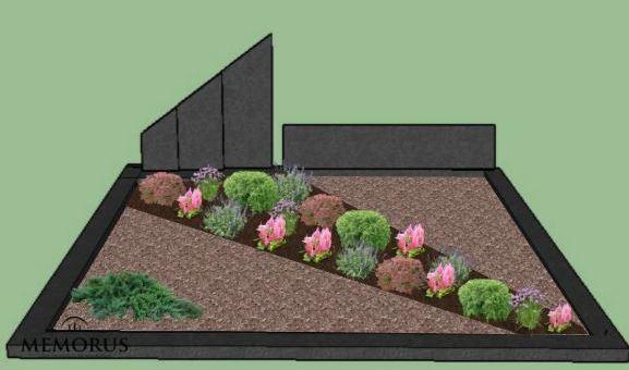 Kapavietės dizaino projektas su įvairiais augalais