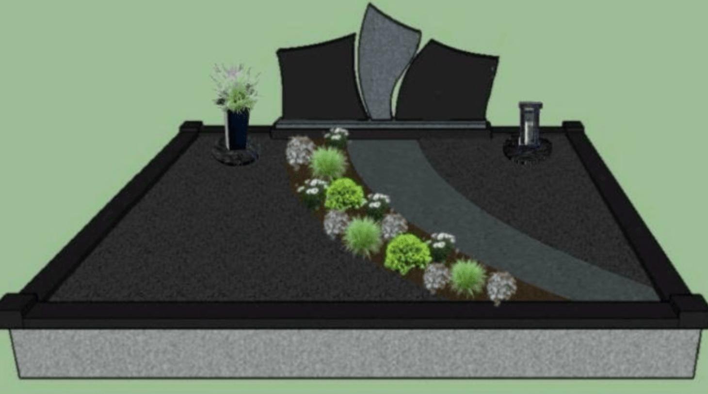kapo dizainas su augalais