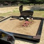 Kapo nuotrauka prieš kapų tvarkymą ir kapavietės įrengimą Panevėžyje