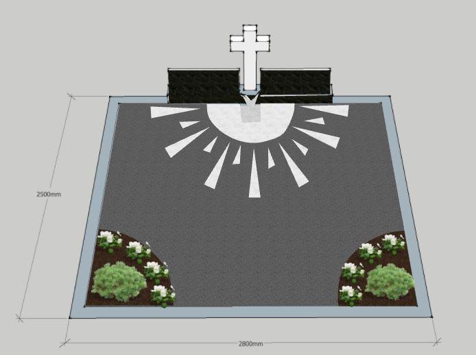 Kapo tvarkymo projektas prieš kapavietės įrengimą Vilniuje