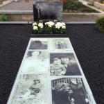 Kapo nuotrauka po kapavietės tvarkymo ir išklojimo trinkelėmis Marijampolėje