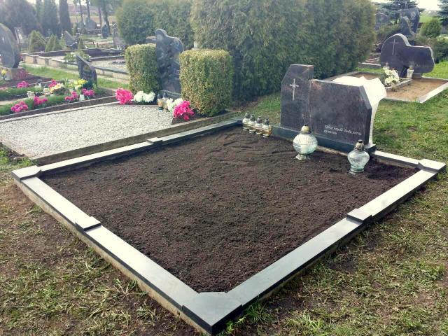 Kapo nuotrauka prieš kapavietės tvarkymą, dekoravimą ir kapo įrengimą Vilniaus rajone