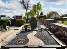 kapo tvarkymas su skaldele, perkunropemis ir granito elementais