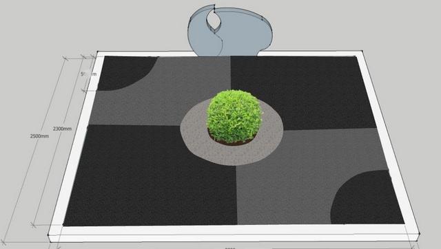 Kapo projektavimas ir kapo tvarkymo vizualizacija Ukmergėje
