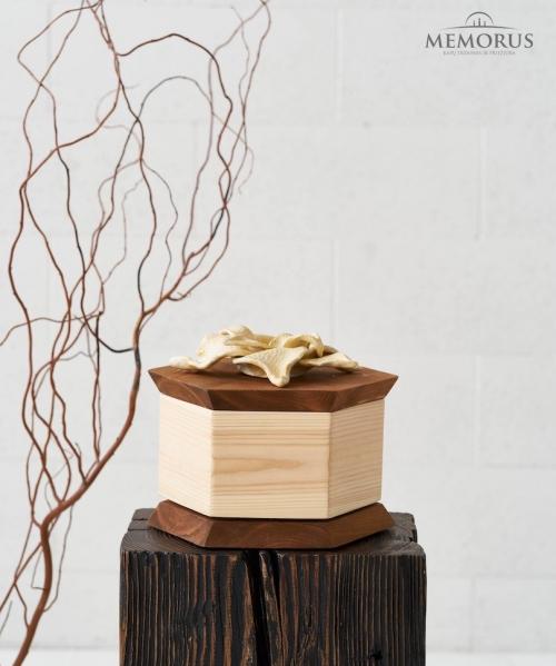 dvieju-spalvu-kremavimo-urna-sadula-su-issiskleidusios-sviesios-geles-dekoracija