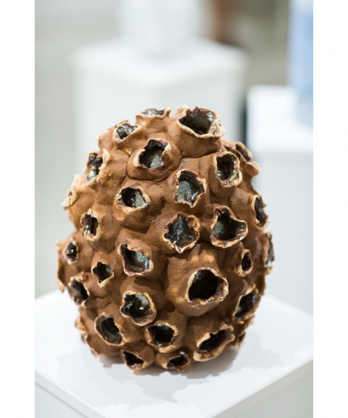 rudos spalvos isskirtinio dizaino kremavimo urna koralas