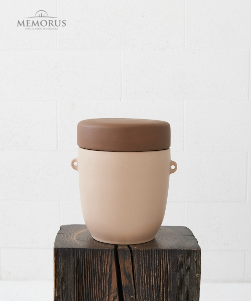 laidojimo urna sviesiai rudos spalvos