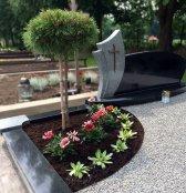 Kapo nuotrauka po kapavietės tvarkymo ir įrengimo Marijampolėje